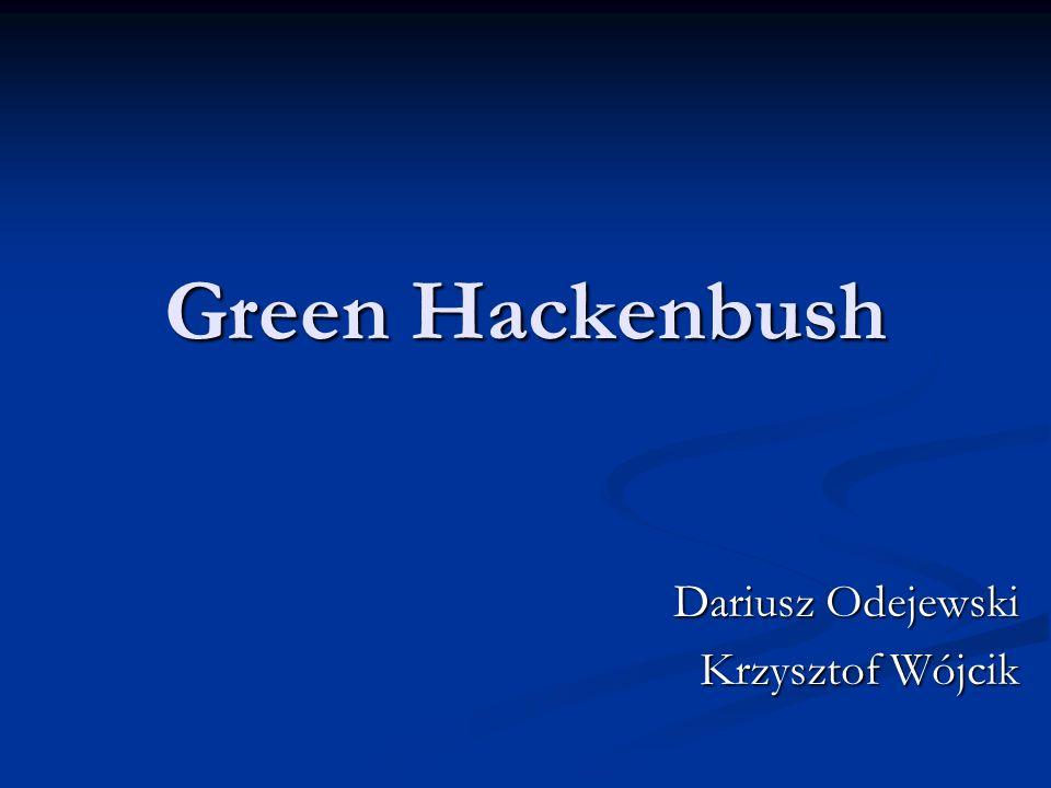 Green Hackenbush Dariusz Odejewski Krzysztof Wójcik