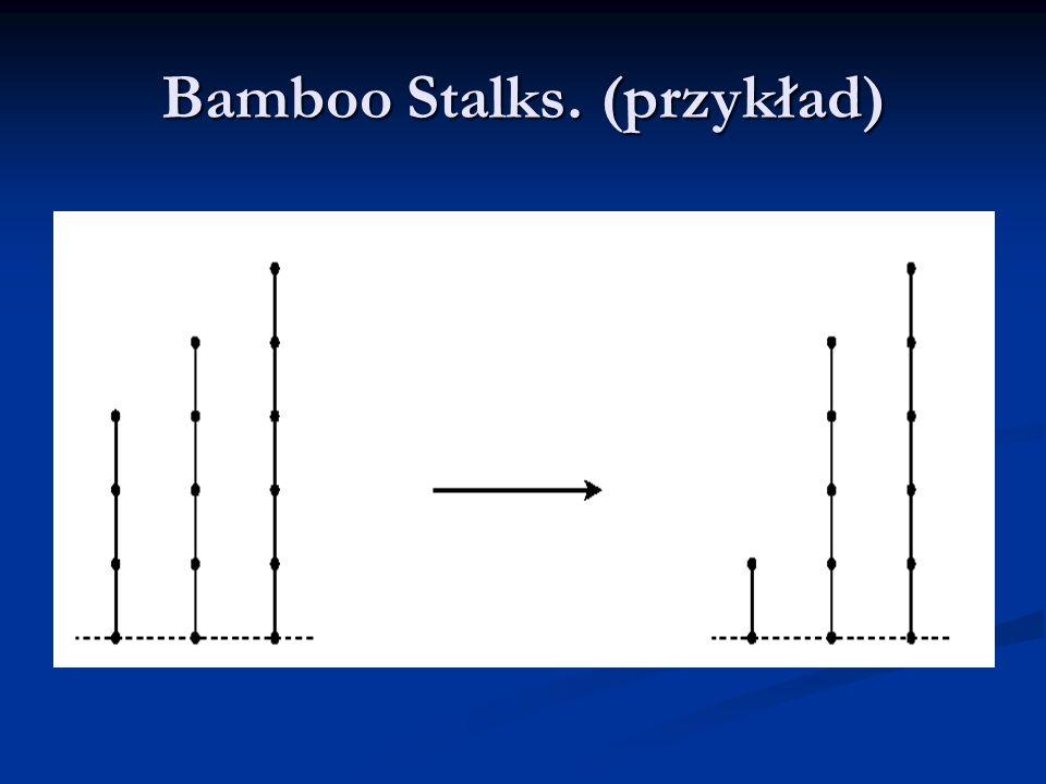 W przykładzie mamy trzy łodygi, co możemy rozpatrywać jako 3 stosy w grze Nim o odpowiednio 3, 4, 5 kulkach.