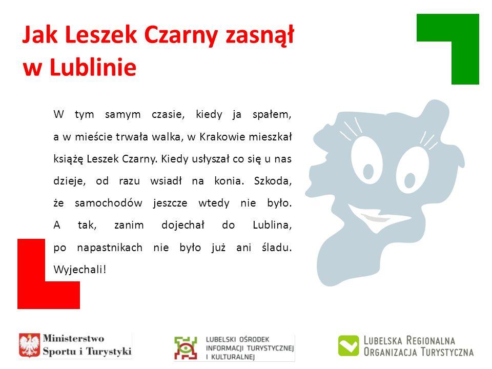 Jak Leszek Czarny zasnął w Lublinie Książę usiadł pod wielkim dębem, który rósł o tu, gdzie teraz nie ma żadnego drzewa, tylko leżą kamienie.