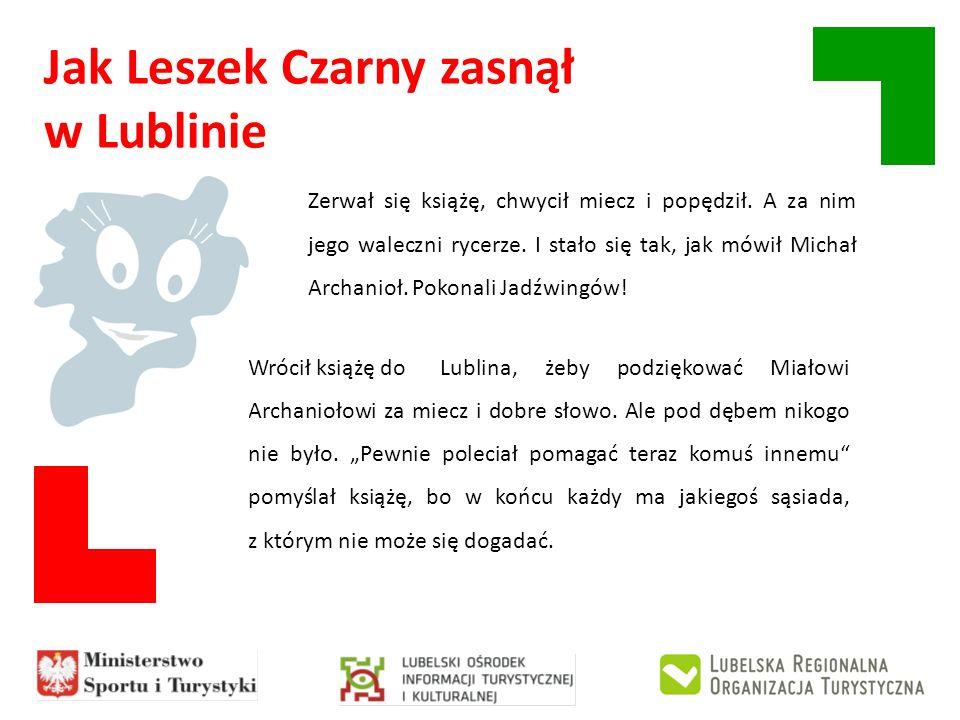 Jak Leszek Czarny zasnął w Lublinie Wrócił książę doLublina, żeby podziękować Miałowi Archaniołowi za miecz i dobre słowo. Ale pod dębem nikogo nie by