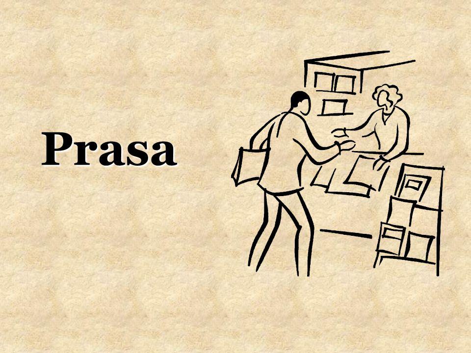 Prasa drukowana to ogół gazet i czasopism to środek masowego przekazu, w którym informacje zamieszczane są w postaci tekstu i obrazu.