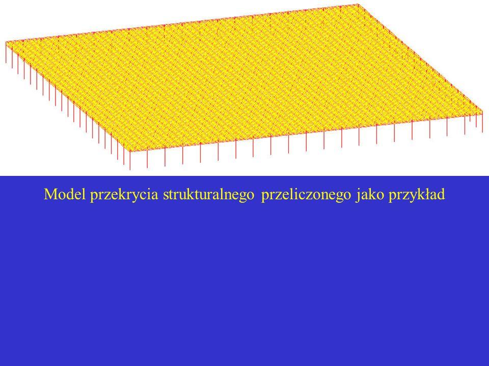 Model przekrycia strukturalnego przeliczonego jako przykład