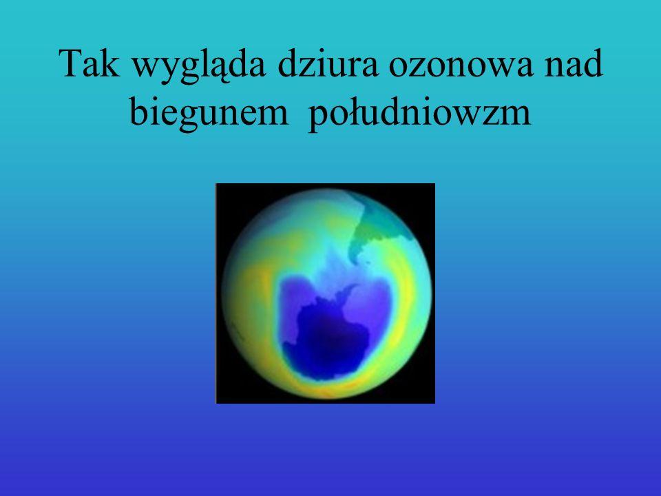 Chlor niszczy ozon.Glownym źródłem tego chloru są freony- związki chemiczne z grupy CFC.