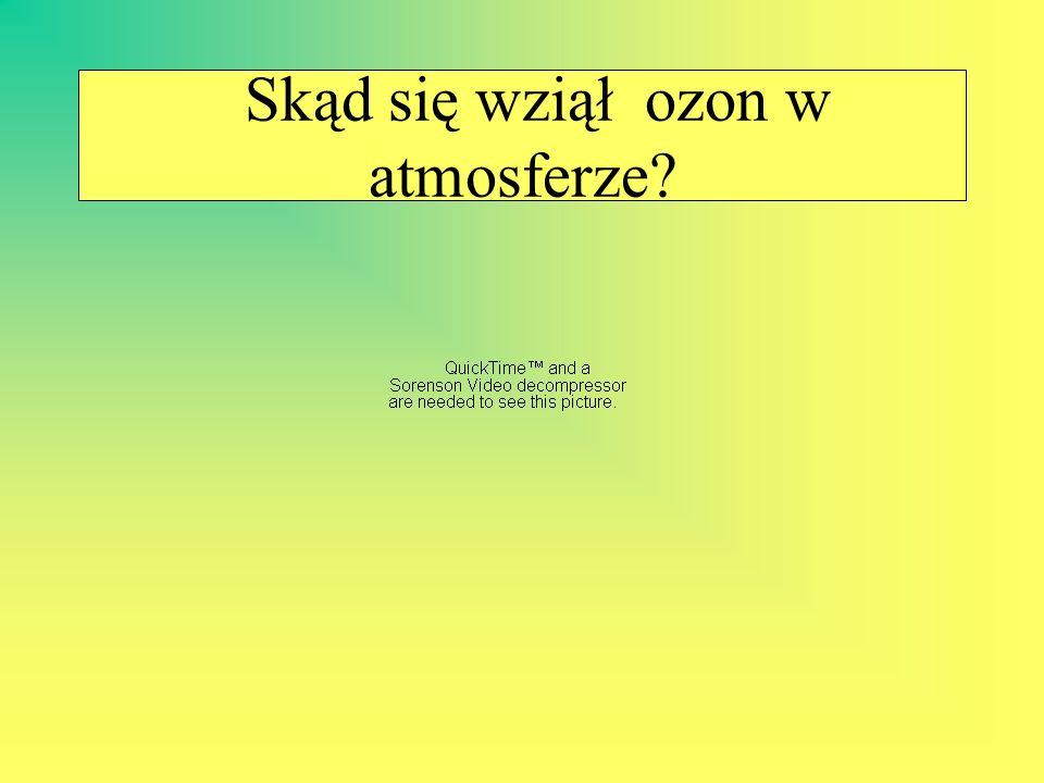 Tak właśnie tworzy się ozon Promieniowanie ultrafioletowe emitowane przez słońce rozbija podwójne wiązania w cząsteczkach tlenu, który znajduje się w górnych warstwach atmosfery.