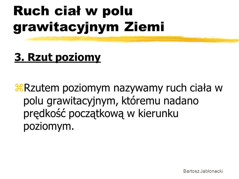 Bartosz Jabłonecki Ruch ciał w polu grawitacyjnym Ziemi 3.