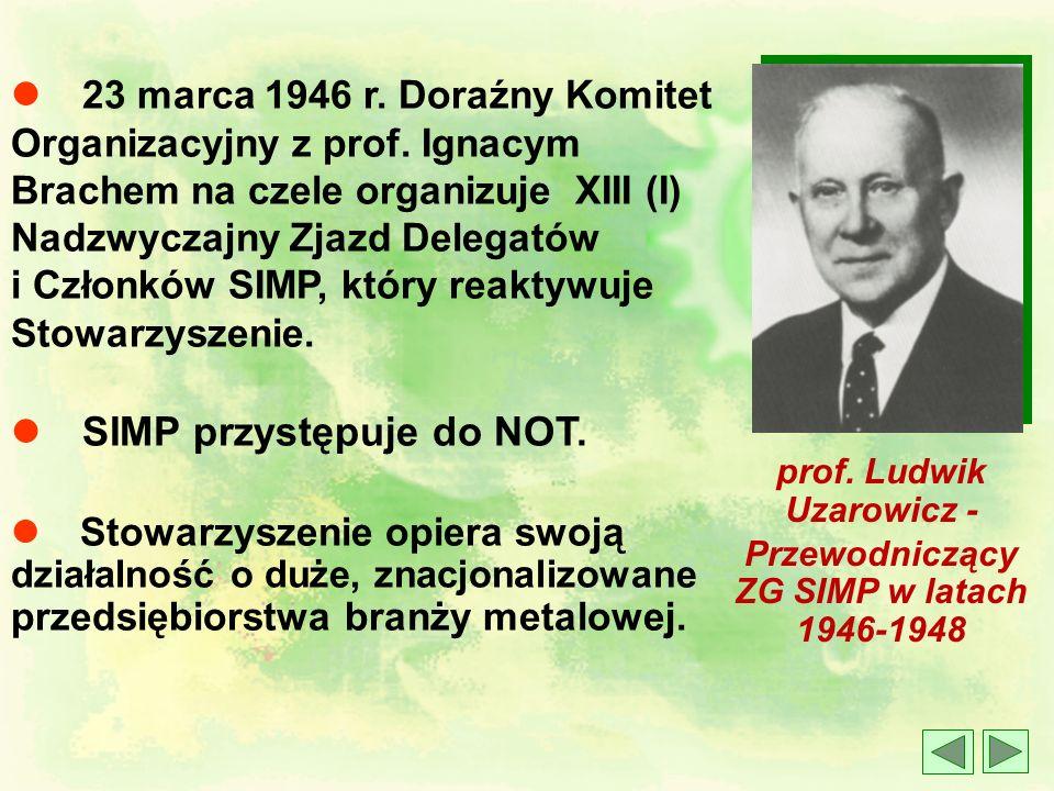 l 1939 – 1945 Okres II Wojny Światowej - wielu członków SIMP działa w Tajnej Organizacji Inżynierów. Pracują w podziemnych warsztatach zbrojeniowych i
