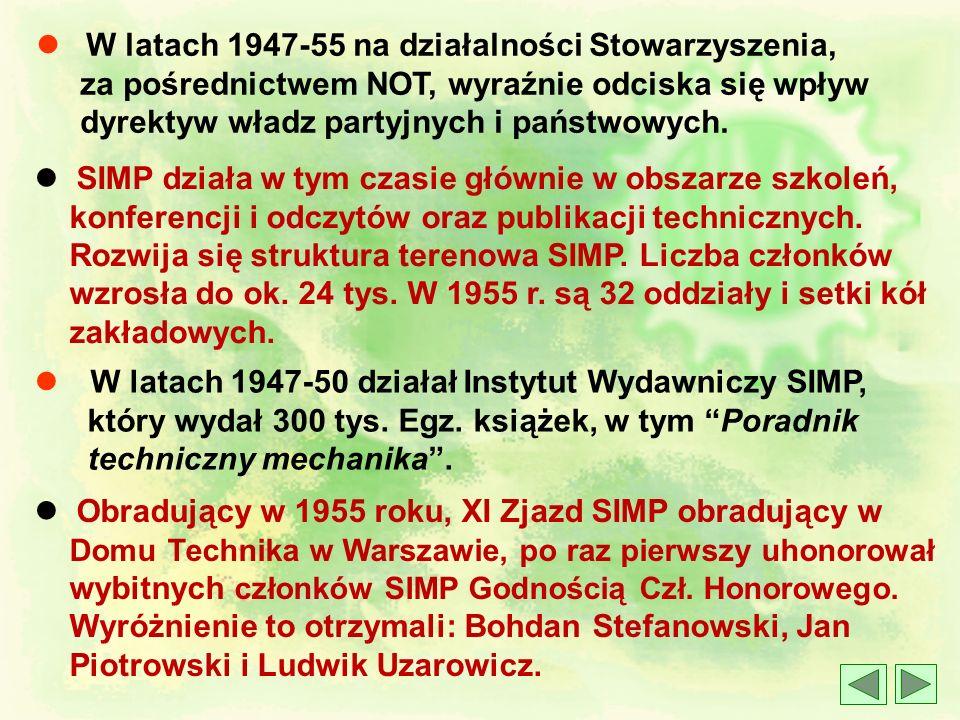 l 23 marca 1946 r. Doraźny Komitet Organizacyjny z prof. Ignacym Brachem na czele organizuje XIII (I) Nadzwyczajny Zjazd Delegatów i Członków SIMP, kt