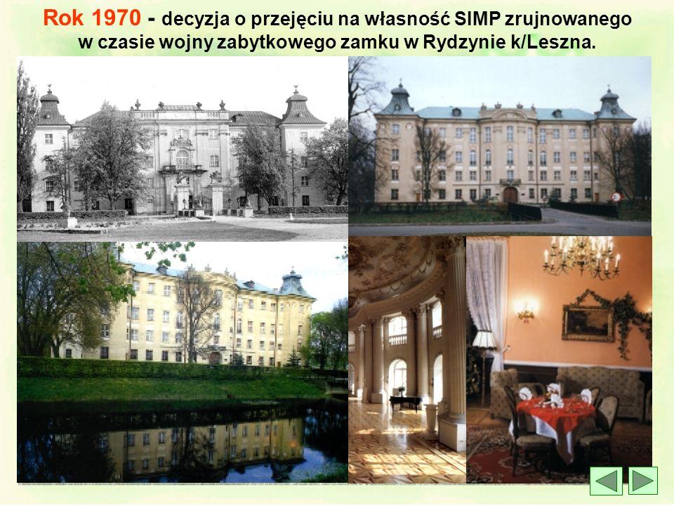 l 8 czerwca 1957 roku - XIII powojenny Zjazd SIMP w Poznaniu Na czele władz SIMP staje prof. Ignacy Brach, przedwojenny działacz SIMP z Katowic. Przyj