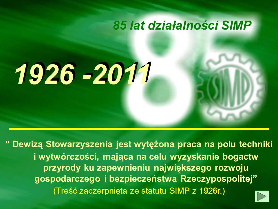W XXXII Walnego Zjazdu Delegatów SIMP, który obradował w dniach 16/17 października 2010r. w Zamku w Rydzynie, odeszli na zawsze niżej wymienieni Honor