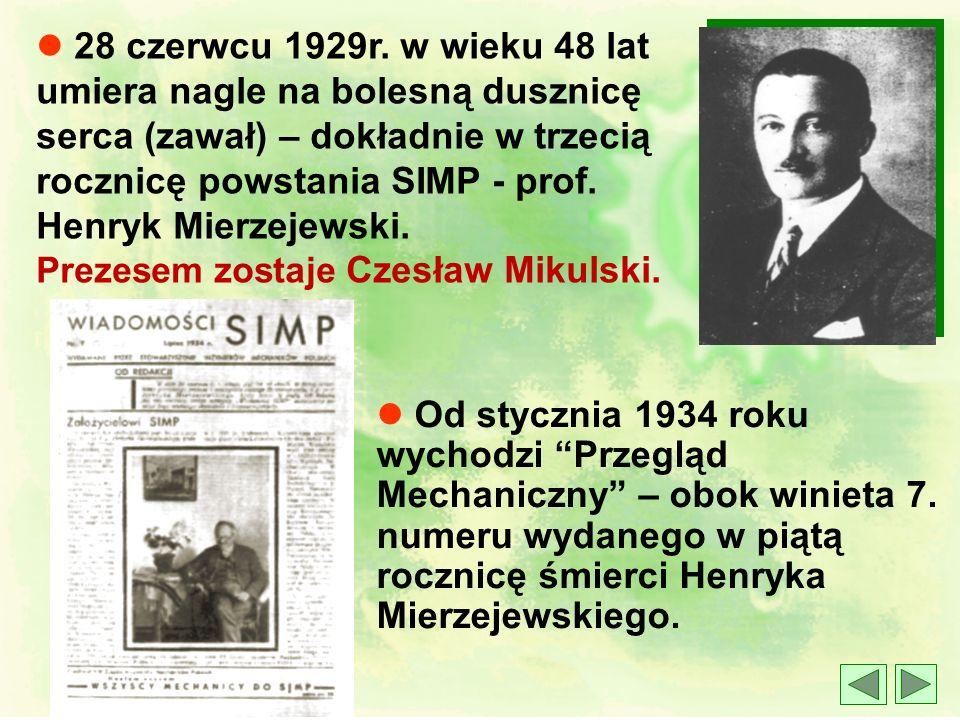 Główne Cele SIMP - zapisane w statucie z 1926r. Kierowane na zewnątrz: l współpraca z instytucjami rządowymi, samorządowymi, stowarzyszeniami krajowym