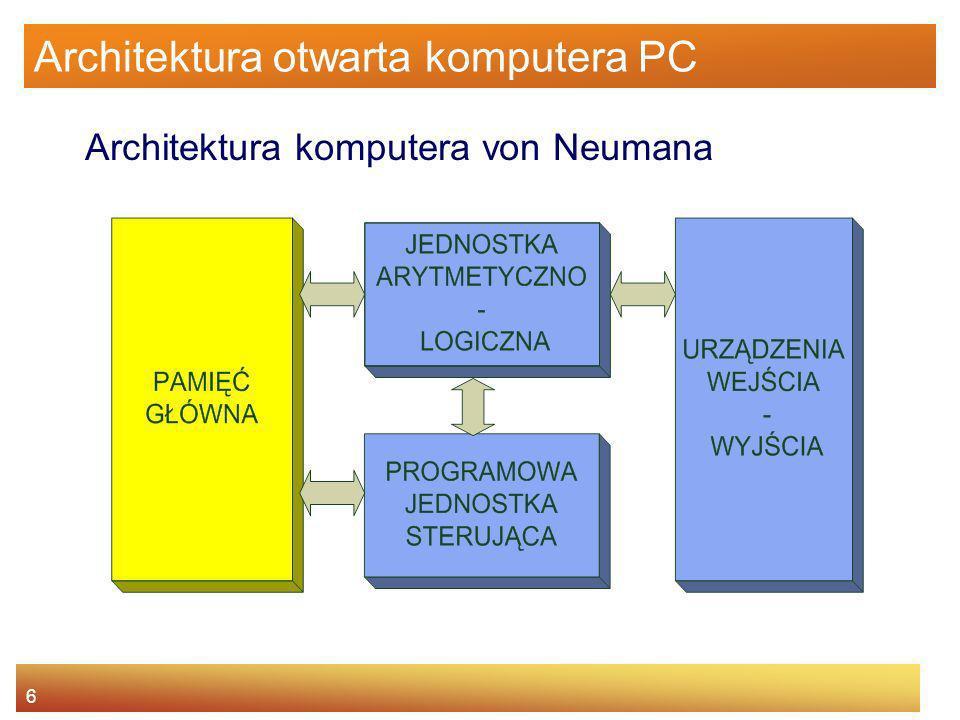 6 Architektura otwarta komputera PC Architektura komputera von Neumana