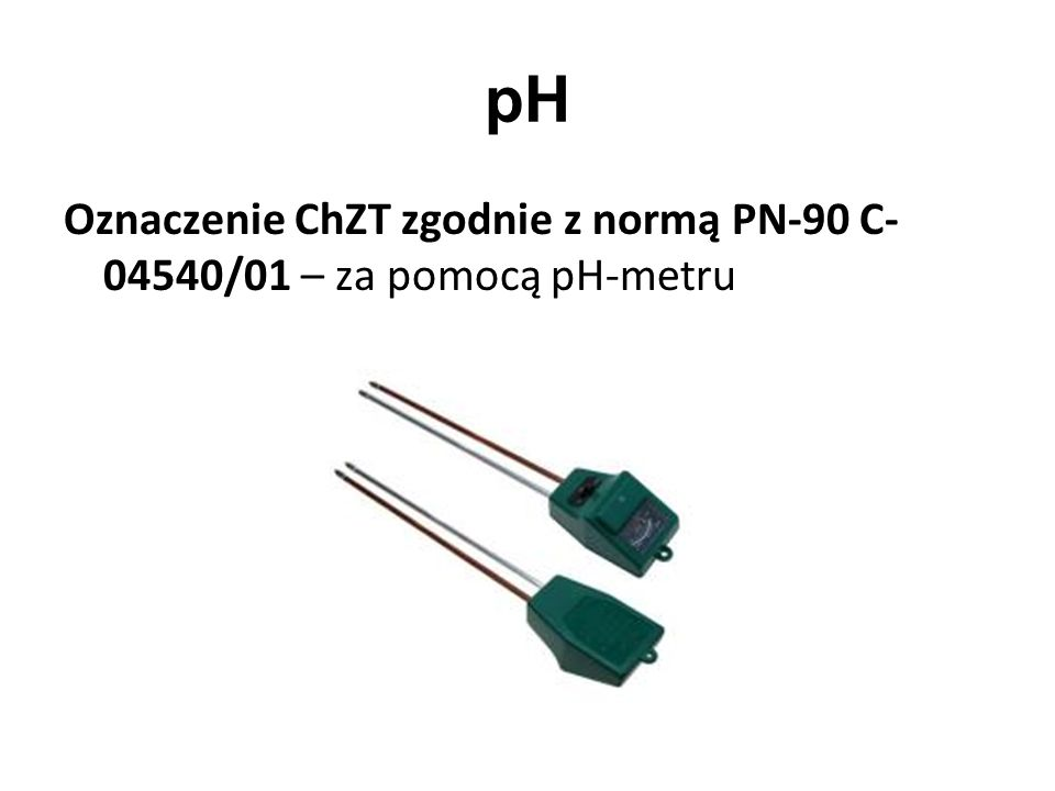 pH Oznaczenie ChZT zgodnie z normą PN-90 C- 04540/01 – za pomocą pH-metru