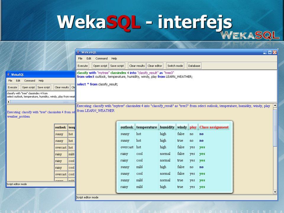 6 WekaSQL - interfejs