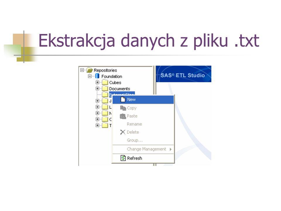 Ekstrakcja danych z pliku.txt