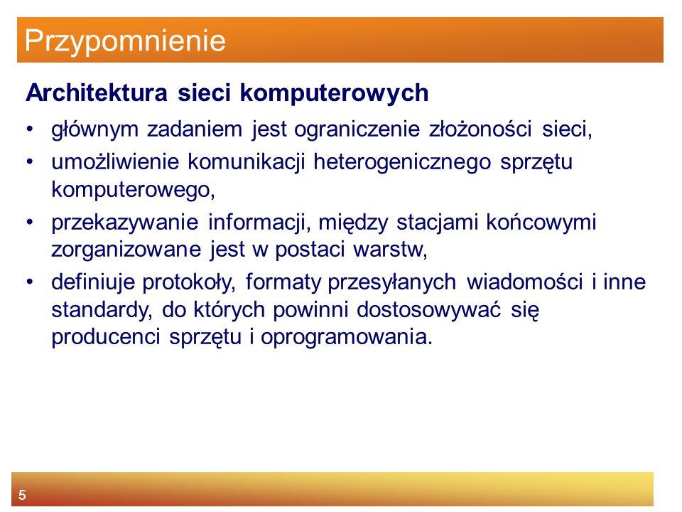 36 Ćwiczenia Odnajdź najbliższy twojego miejsca zamieszkania punkt hotspot http://www.pdaclub.pl/hs/ Wyjaśnij zasadę działania modemu