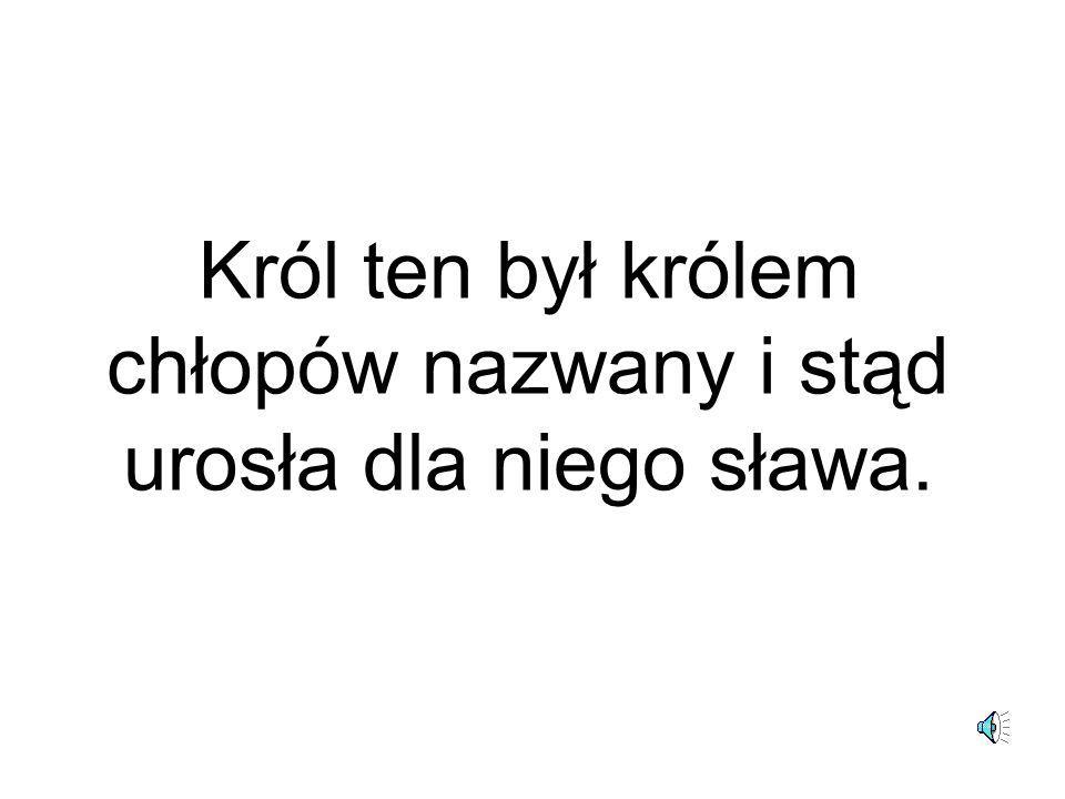 Powołał w Krakowie pierwszy polski uniwersytet.