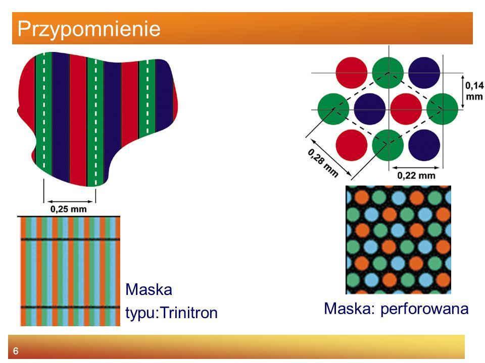 6 Maska typu:Trinitron Maska: perforowana
