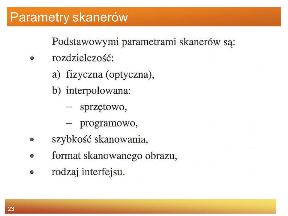 23 Parametry skanerów