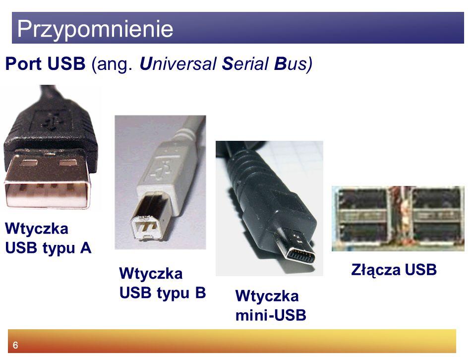 6 Przypomnienie Port USB (ang.
