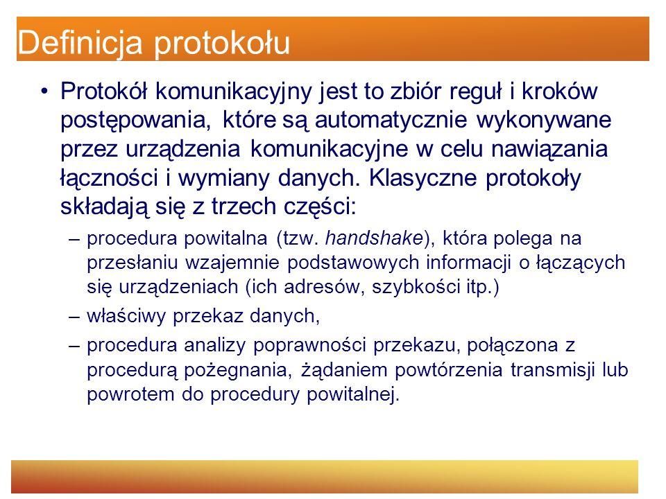 Hypertext Transfer Protocol (HTTP) Protokół sieci WWW (World Wide Web).