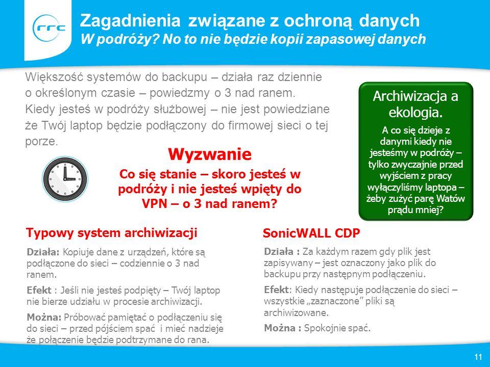 11 Zagadnienia związane z ochroną danych W podróży.