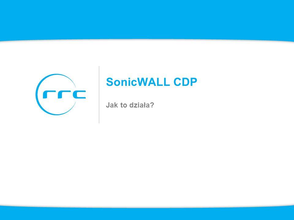 SonicWALL CDP Jak to działa?