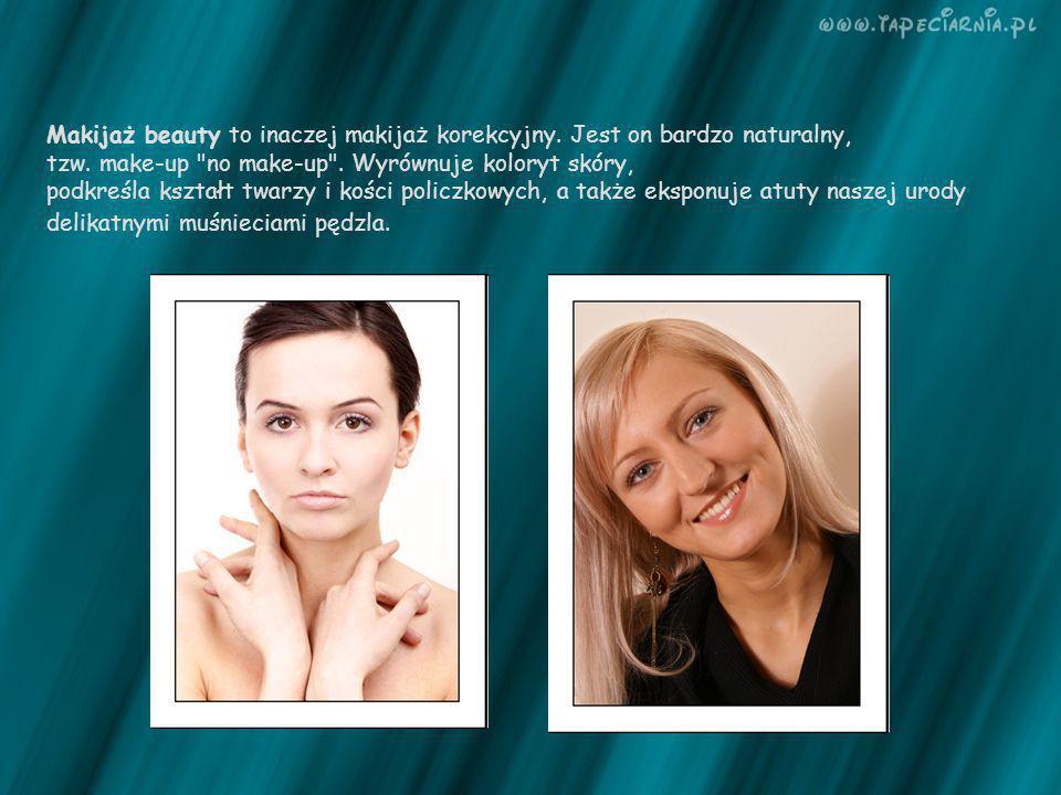 Makijaż beauty to inaczej makijaż korekcyjny. Jest on bardzo naturalny, tzw. make-up