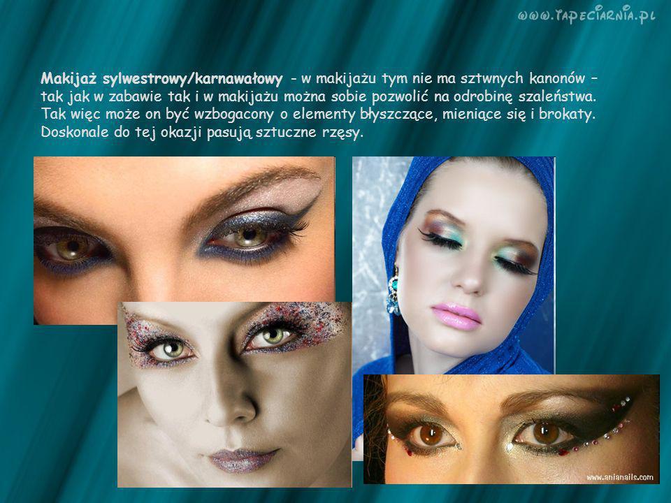 Makijaż sylwestrowy/karnawałowy - w makijażu tym nie ma sztwnych kanonów – tak jak w zabawie tak i w makijażu można sobie pozwolić na odrobinę szaleńs