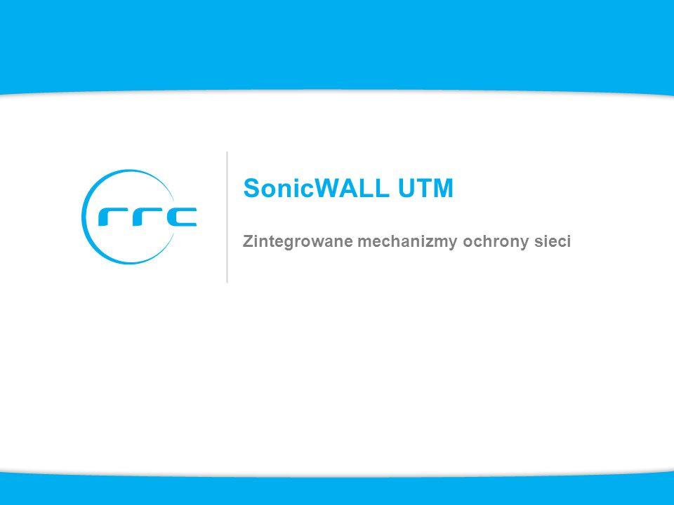 SonicWALL UTM Zintegrowane mechanizmy ochrony sieci