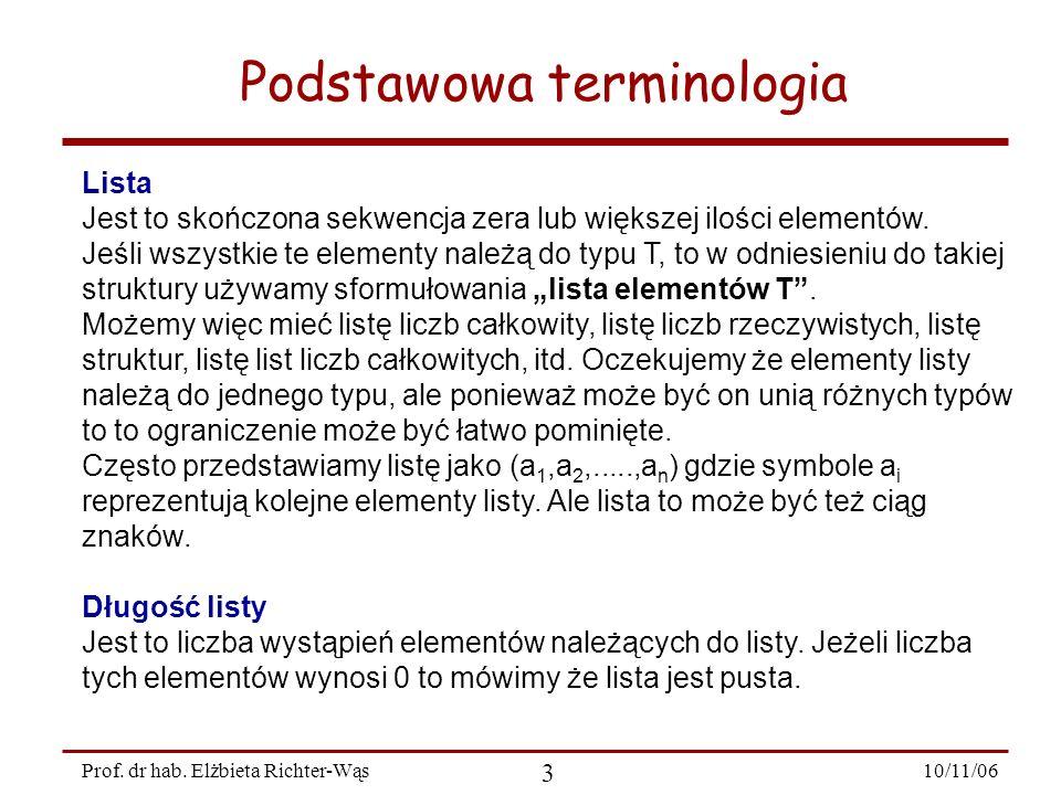 10/11/06 14 Prof.dr hab.