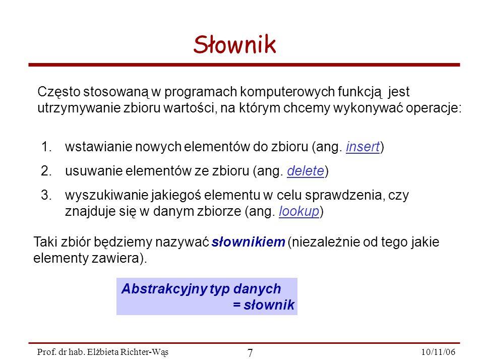 10/11/06 18 Prof.dr hab.