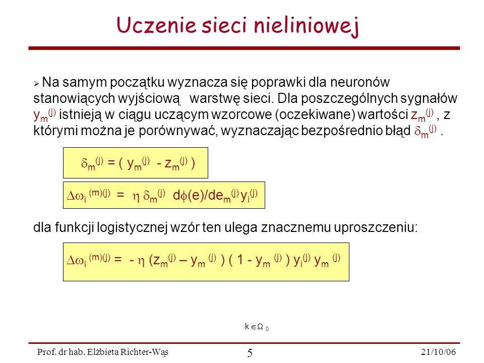 21/10/06 36 Prof.dr hab.