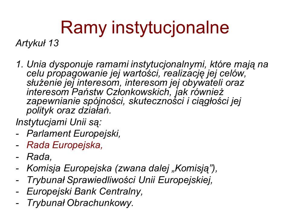 Zasady działania instytucji UE Zasada autonomii Zasada przyznanych kompetencji Zasada równowagi instytucjonalnej Zasada lojalności