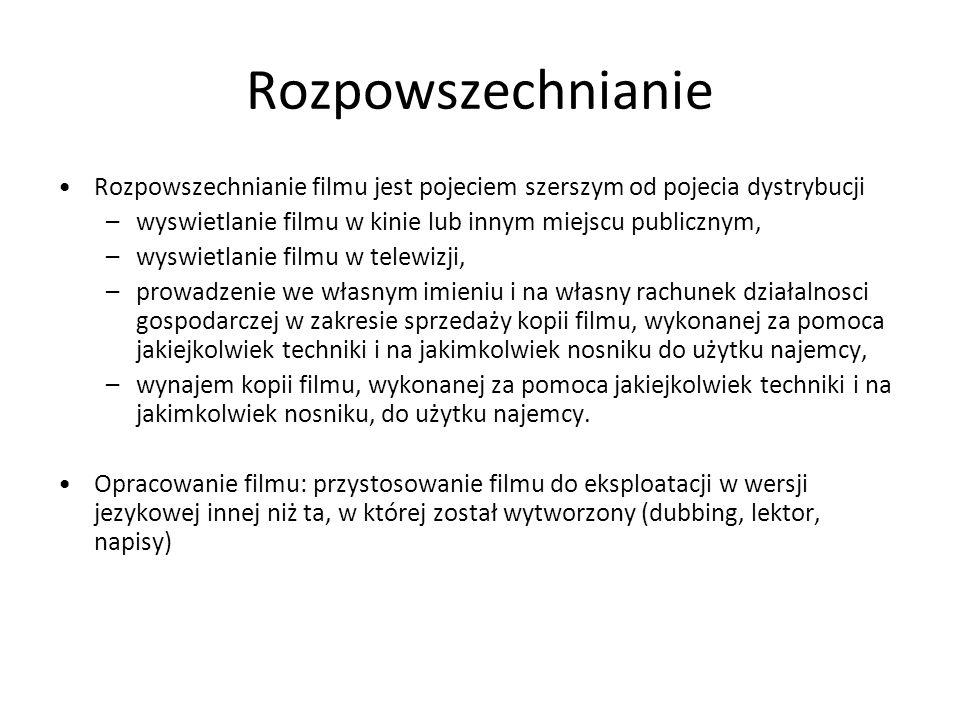 Etapy produkcji filmowej - preprodukcja Jest to okres opracowan literackich.