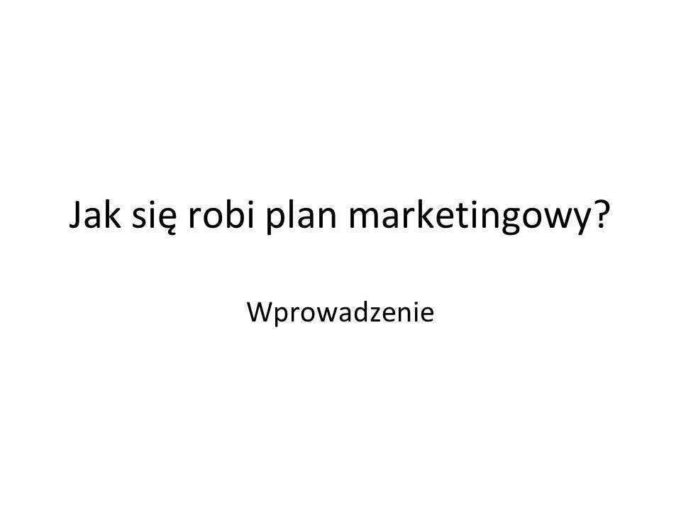 Jak się robi plan marketingowy? Wprowadzenie