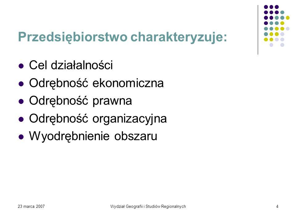 23 marca 2007Wydział Geografii i Studiów Regionalnych15 Prezentacje opracowały: Małgorzata Certa, zwana mała MI, lub po prostu Goha Justyna Chludzińska, potocznie Bąbelek Dziękujemy za uwagę polecamy się na przyszłość, Bąbel & Bąbel Sp.