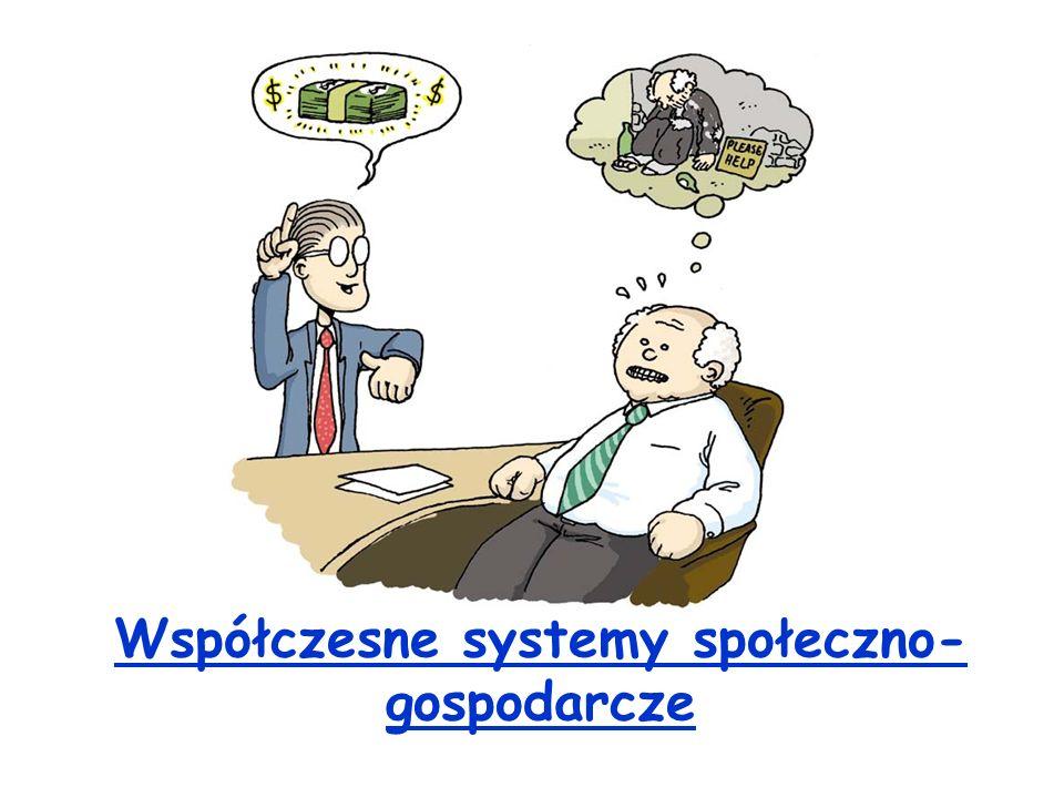 Współczesne systemy społeczno- gospodarcze