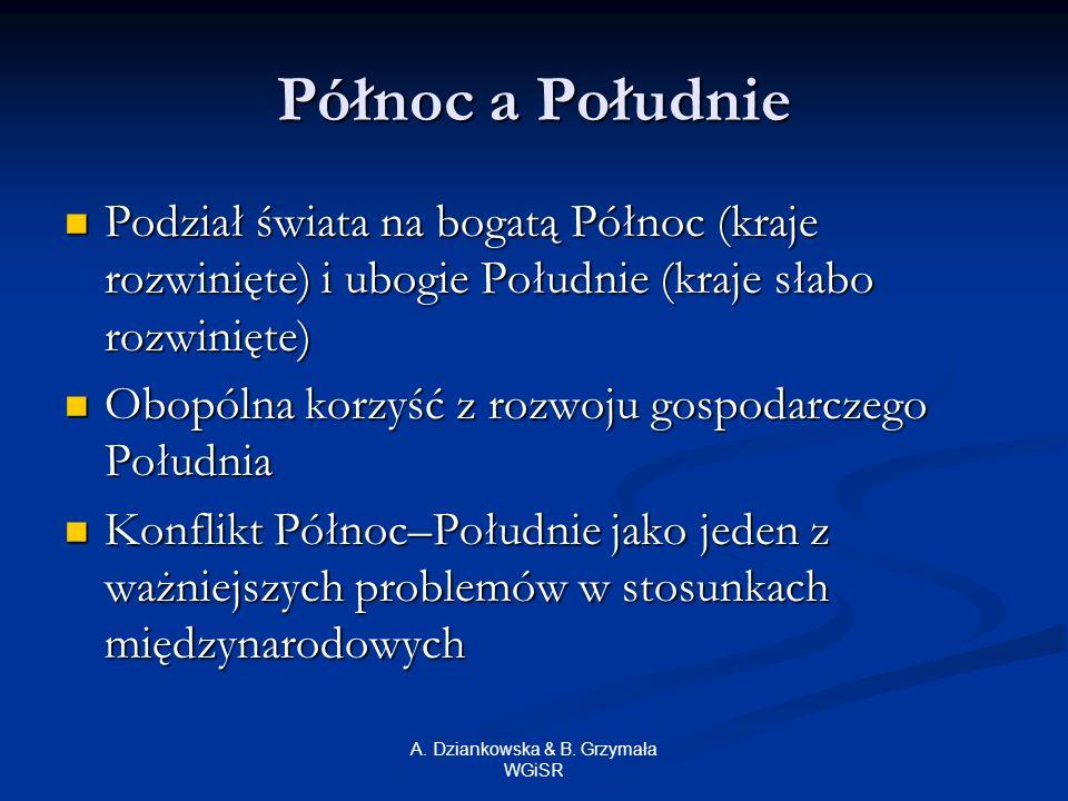 A. Dziankowska & B. Grzymała WGiSR Charakterystyka wybranych państw