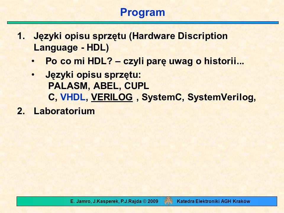 1.Języki opisu sprzętu (Hardware Discription Language - HDL) Po co mi HDL.