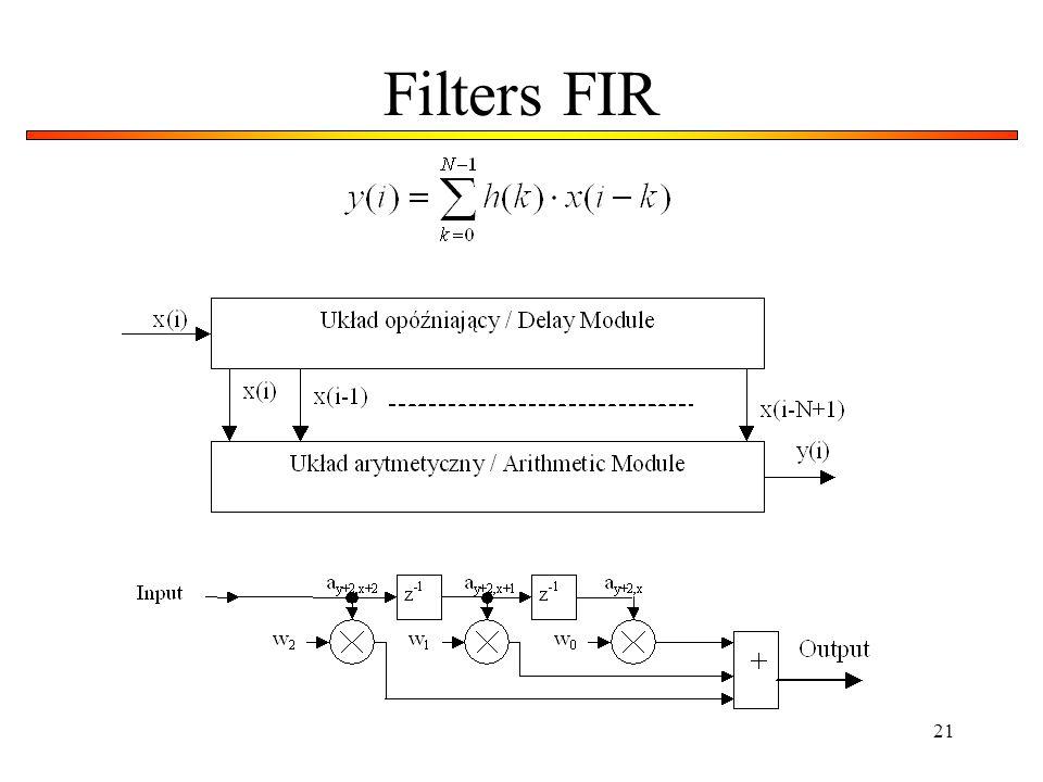 21 Filters FIR