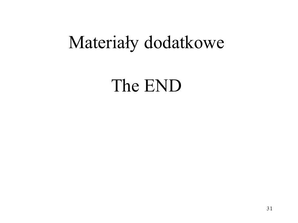 31 Materiały dodatkowe The END