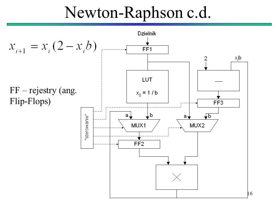16 Newton-Raphson c.d. FF – rejestry (ang. Flip-Flops)