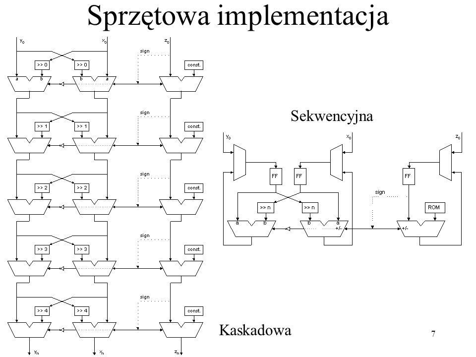 7 Sprzętowa implementacja Kaskadowa Sekwencyjna