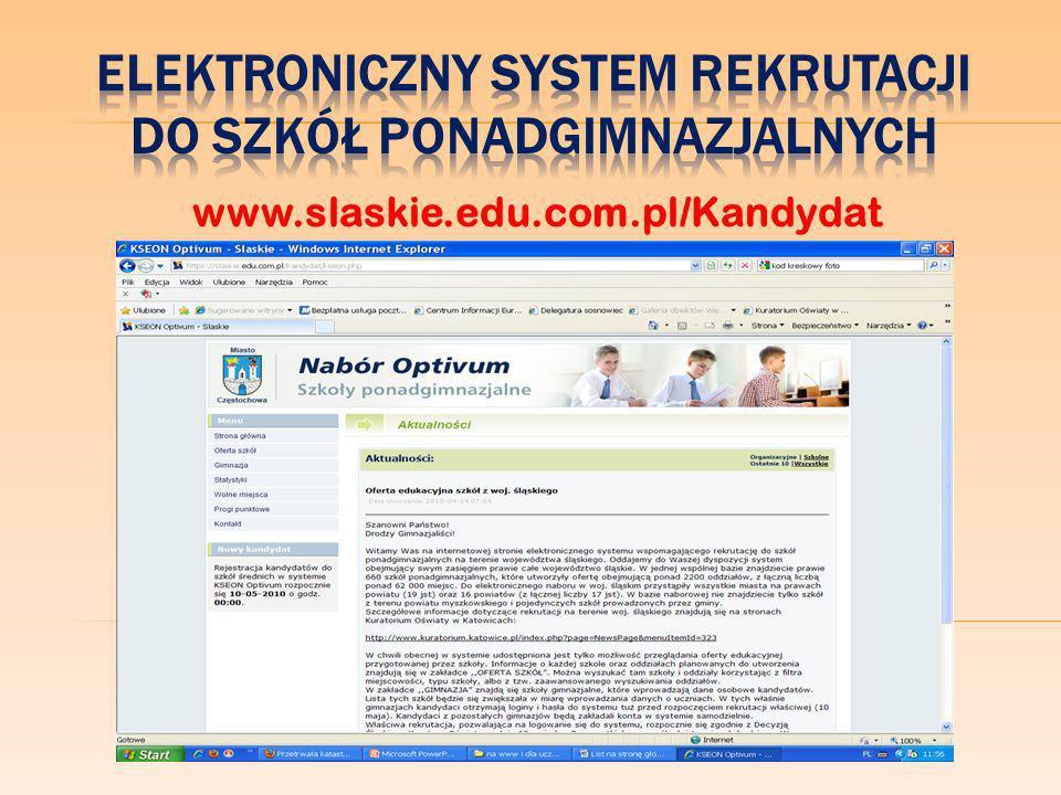 życzy Wam Administrator Elektronicznego Systemu Rekrutacji Nabór Optivum w Gimnazjum nr 3 im.
