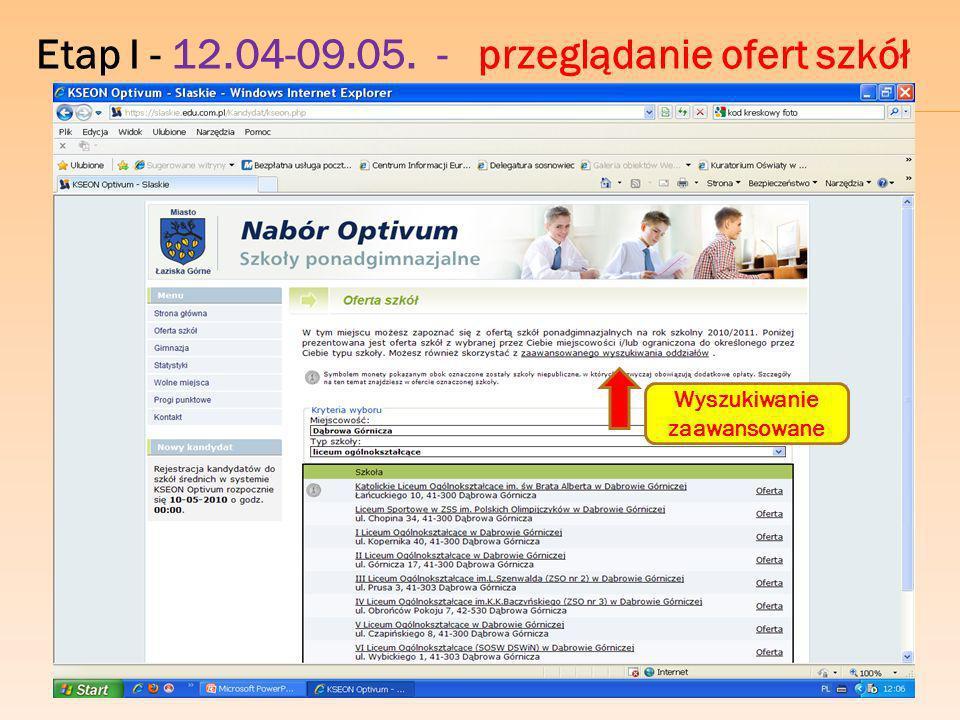 Etap I - 12.04-09.05. - wyszukiwanie zaawansowane