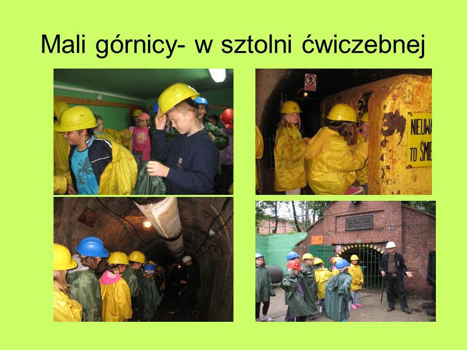 Mali górnicy- w sztolni ćwiczebnej