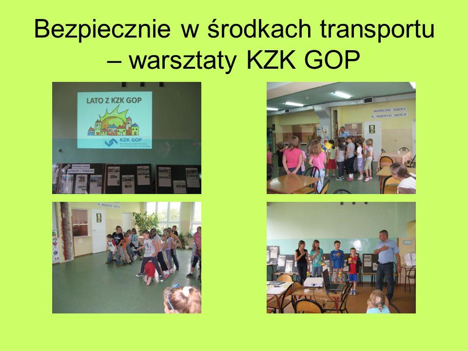Bezpiecznie w środkach transportu – warsztaty KZK GOP