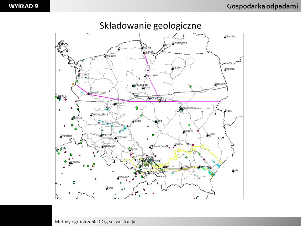 Agnieszka Kelman Aleksandra Karczmarczyk Metody ograniczania CO 2, sekwestracja. Gospodarka odpadami WYKŁAD 9 Składowanie geologiczne