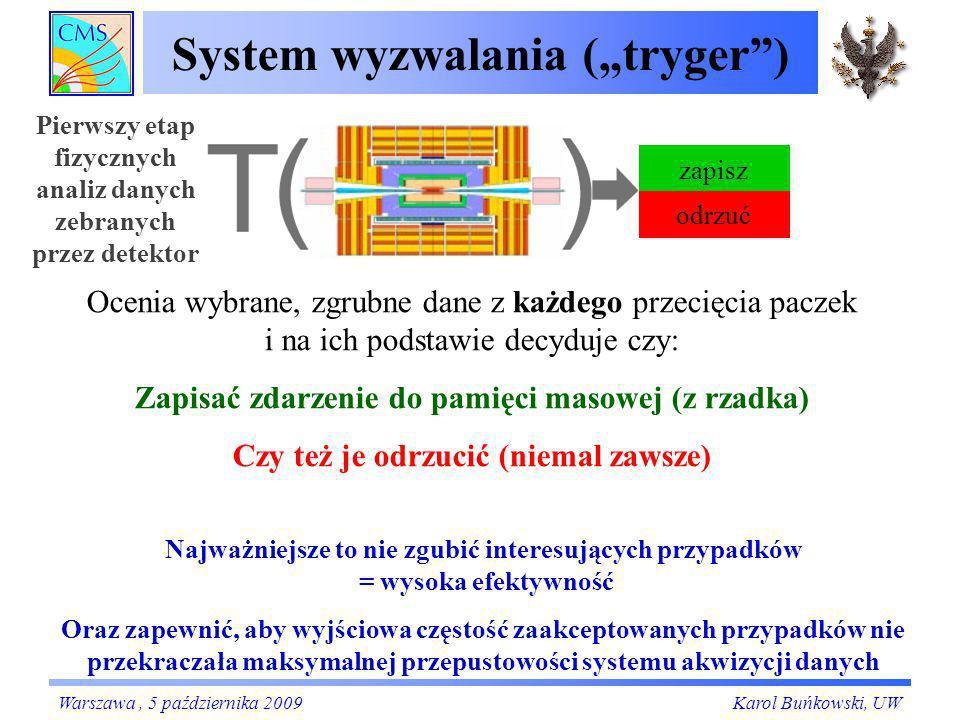 Synchronizacja systemu trygera Czyli Problem jednoczesności zdarzeń w praktyce Karol Buńkowski, UW Czyli Zsynchronizujmy zegarki Warszawa, 5 października 2009