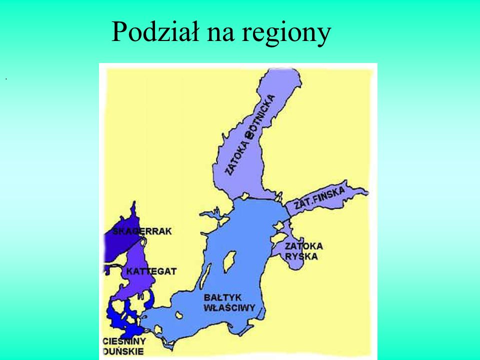 . Podział na regiony